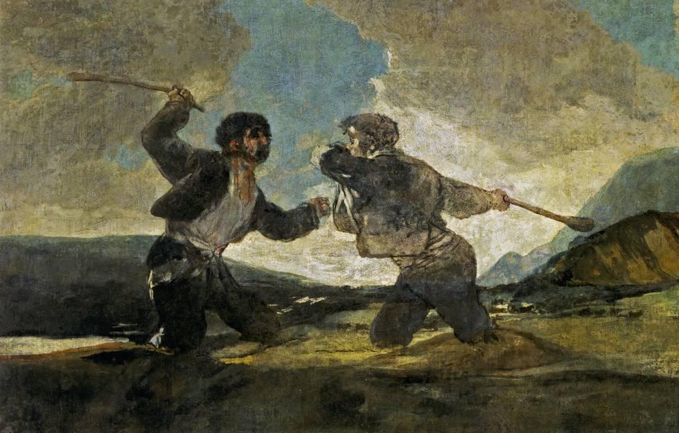 'El duelo a garrotazos' de Goya se ha convertido en s�mbolo de violencia cainita entre humanos.