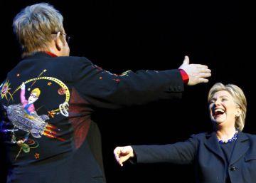 Elton John ayudará a Hillary Clinton con un concierto