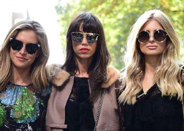 Tres invitadas al desfile de Dolce and Gabbana, el pasado 25 de septiembre.