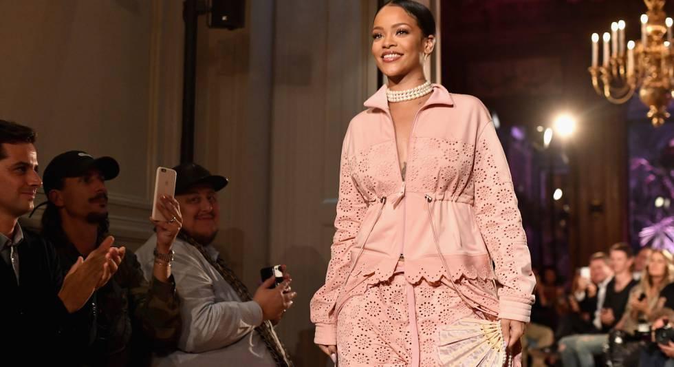 Rihanna, en el desfile de su segunda colección para Puma.