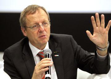 El director de la Agencia Espacial Europea (ESA), Johan Woerner, hoy en Guadalajara.