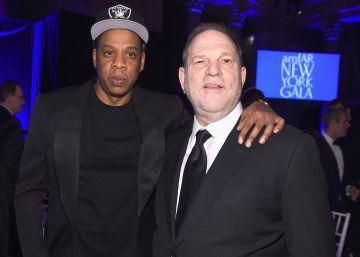 Jay Z y Harvey Weinstein, en la gala amfAR en Nueva York.
