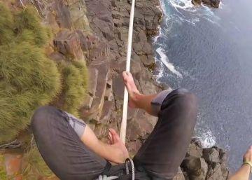 Un equilibrista graba su proeza a 32 metros de altura