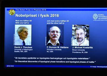 Premio Nobel de Física 2016 para estudios sobre la materia en el mundo cuántico