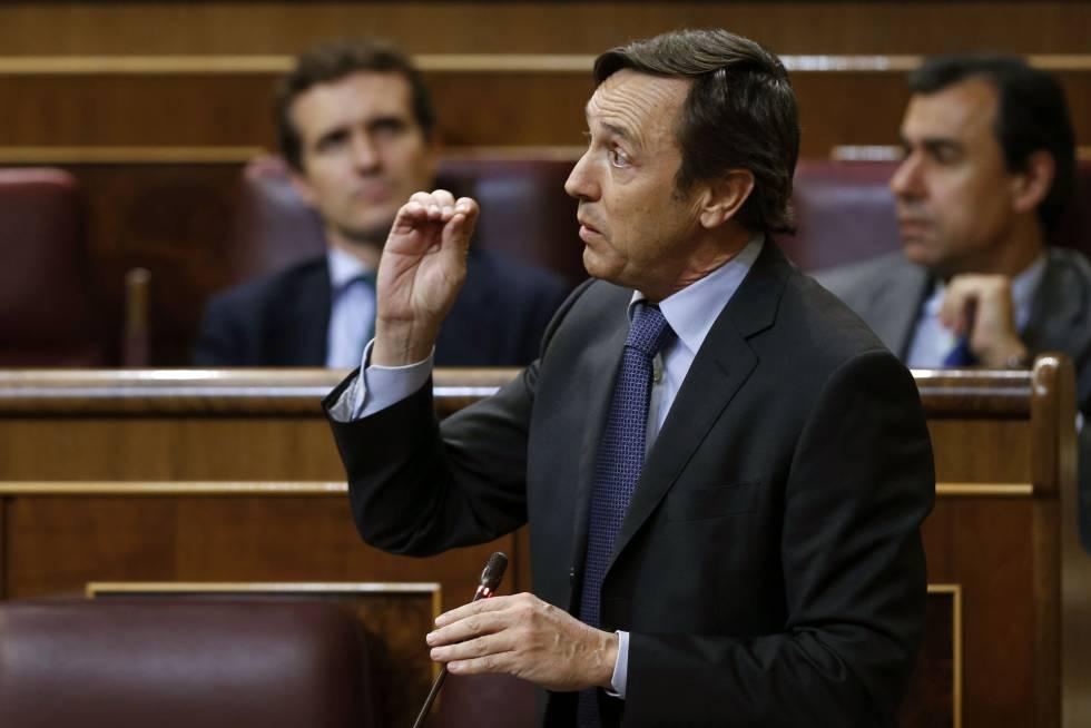 El portavoz del PP en el Congreso, Rafael Hernando, en el pleno celebrado el 5 de octubre.