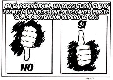 El referéndum sobre el acuerdo de paz en Colombia, en viñetas