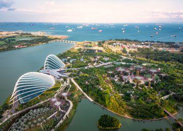 Vista aérea de la ciudad-estado de Singapur.