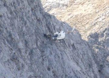El rescate de dos montañeros a 2.200 metros de altitud en los Picos de Europa