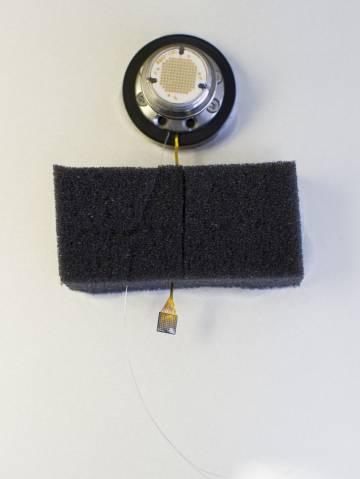Comparación del tamaño del conjunto de 32 electrodos.