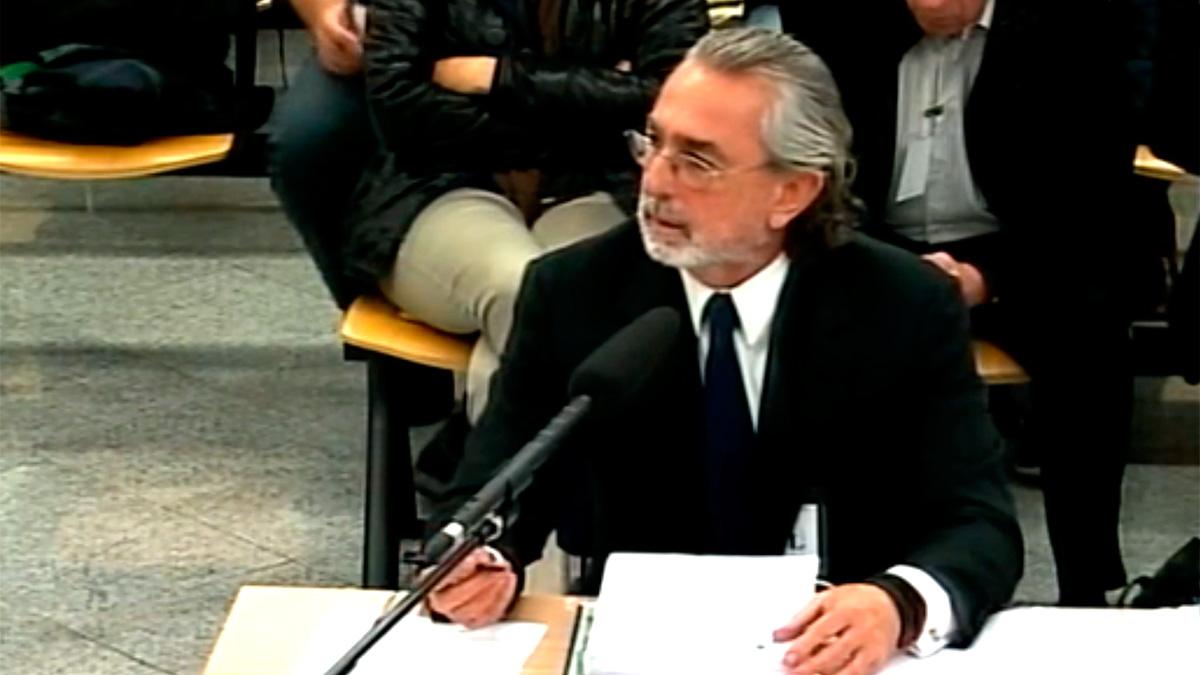 Francisco Correa durante su declaración en el juicio por el caso Gürtel.