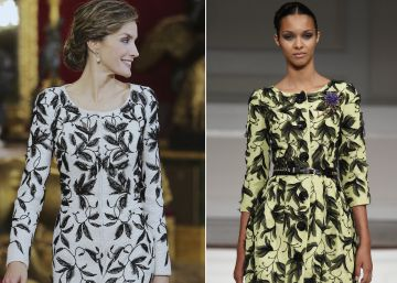 El sospechoso parecido del vestido de Felipe Varela para doña Letizia