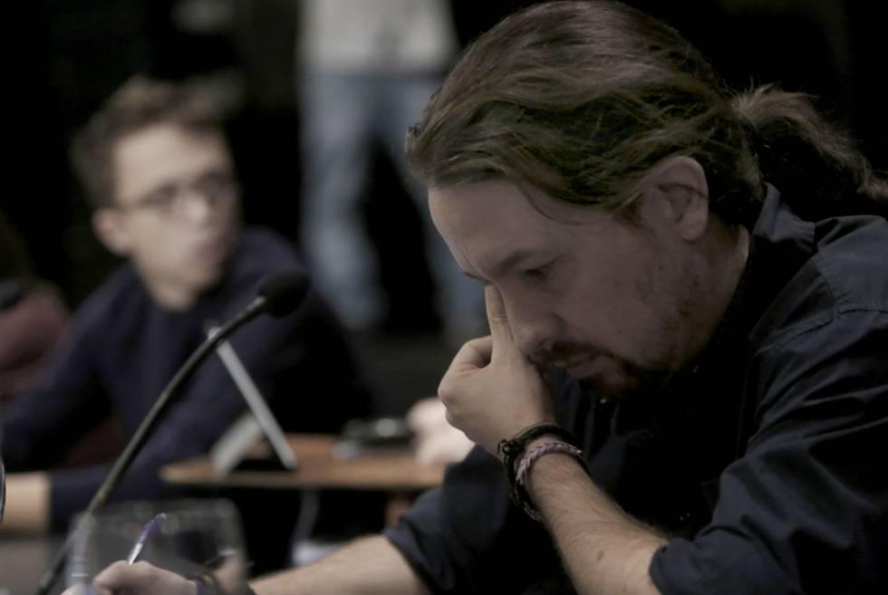 Pablo Iglesias y Errejon en en consejo ciudadano de Podemos.