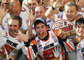 Marc Márquez, campeón del mundo en MotoGP en Japón