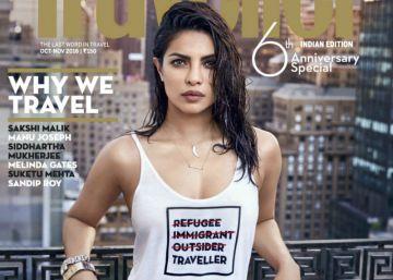 Priyanka Chopra se disculpa tras ofender a refugiados en una portada
