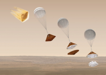 Descenso y primer aterrizaje en Marte de una nave europea