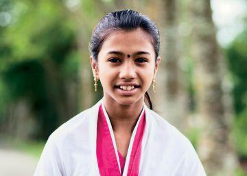 Aditi tiene 10 años, es de Banglades y quiere ir a la universidad.