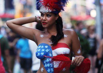 Las 'desnudas' de Times Square desatan la polémica