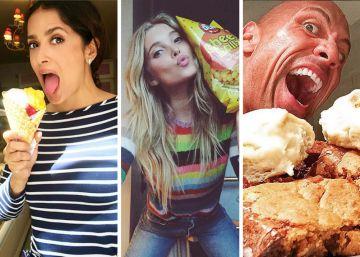 Fotos| 20 famosos pican entre horas: ¿es sano lo que comen?
