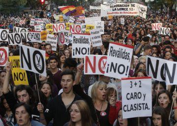 Huelga de estudiantes contra las reválidas
