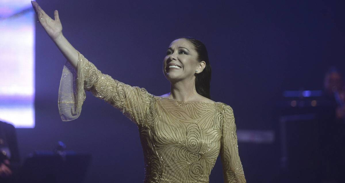 Isabel Pantoja, durante un concierto en Valladolid en 2014.