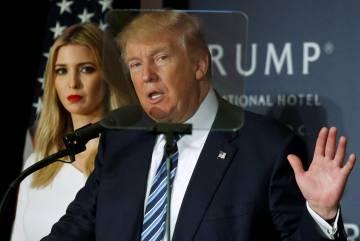 El candidato republicano a la presidencia de Estados Unidos junto a su hija Ivanka esta semana en Washington DC.