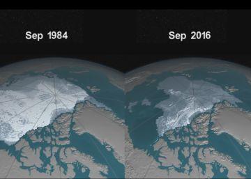 Así ha perdido hielo el Océano Ártico desde 1984