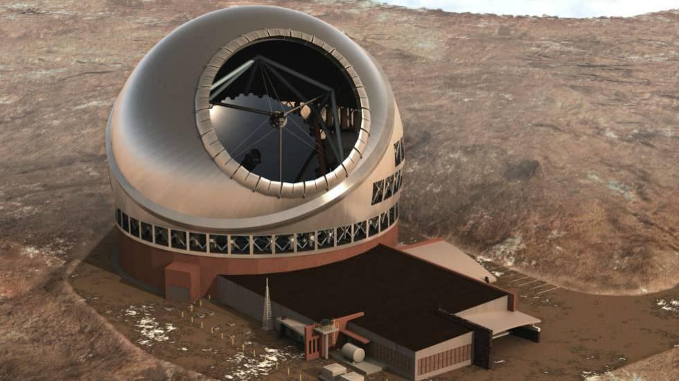 Recreación del Telescopio de Treinta Metros