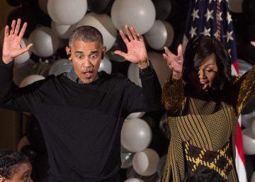 Los Obama bailan al ritmo de 'Thriller' en su último Halloween