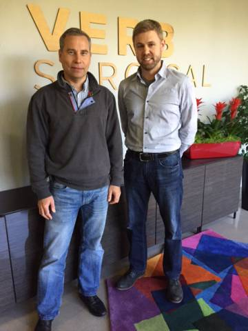 Pablo E. García y David Herrmann, vicepresidentes de Verb.