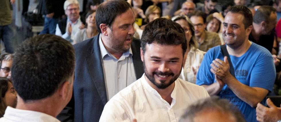 Gabriel Rufián, con Oriol Junqueras