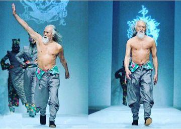 Este hombre tiene 80 años, desfila de modelo y atesora un mensaje inspirador