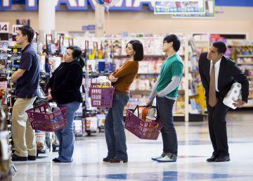 Cómo elegir la cola más rápida del supermercado
