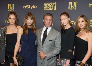 Las tres hijas de Sylvester Stallone, nuevas Miss Globos de Oro