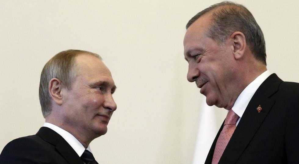 Vladimir Putin y Tayyip Erdogan