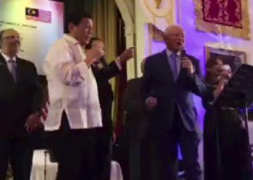El karaoke del presidente de Filipinas y el primer ministro de Malasia