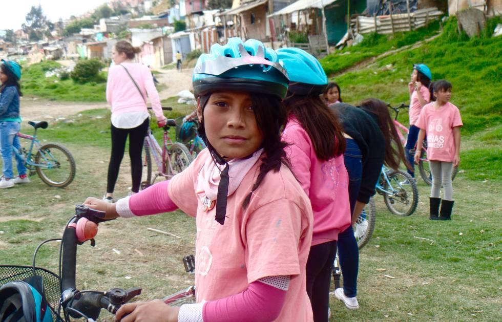 Una de las participantes en el programa de la Fundación Niñas sin Miedo.