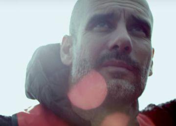 Pep Guardiola, con los refugiados