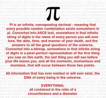 (Creemos que) Todos los números están en Pi