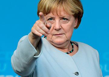 La canciller Angela Merkel, junto a Frank-Walter Steinmeier, Sigmar Gabriel y Horst Seehofer, el miércoles en Berlín.