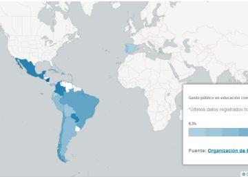 Los países que mejores y peores notas sacan en Educación en Iberoamérica