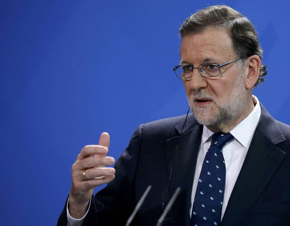 Mariano Rajoy, durante la conferencia de prensa ofrecida en Berlín.