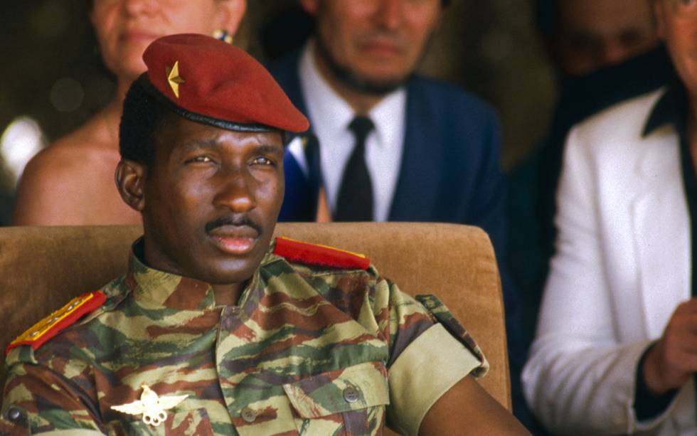 Retrato del capitán Thomas Sankara.