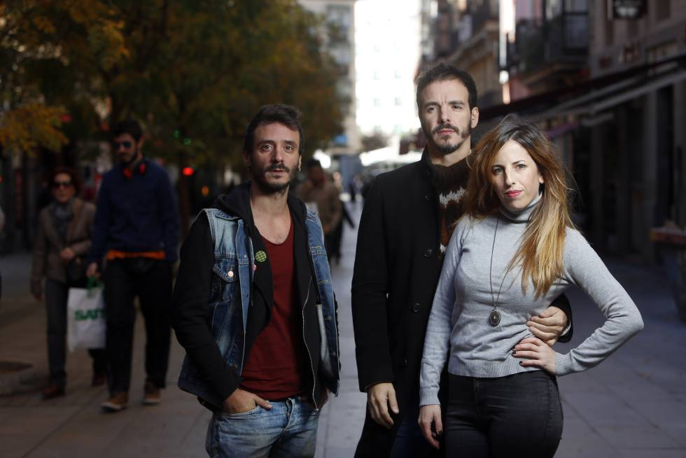 Celia de Molina, Ignacio Mateos y Javier Giner.