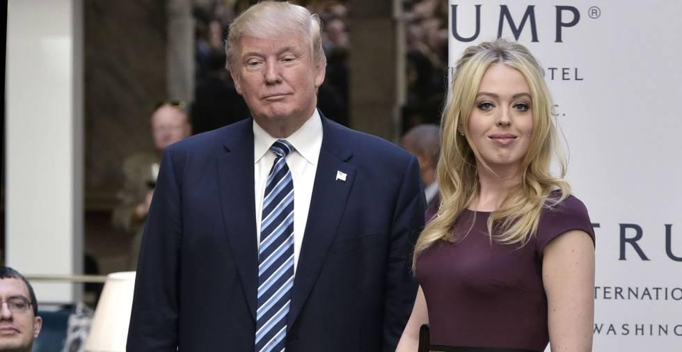 Donald Trump y Tiffany Trump, el pasado 26 de octubre en Washington D.C.