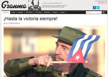 Titulares en los medios digitales sobre la muerte de Fidel Castro