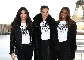Los ángeles de Victoria's Secret se pasean por París