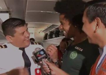 La última entrevista a la plantilla del Chapecoense, a bordo del avión antes de despegar