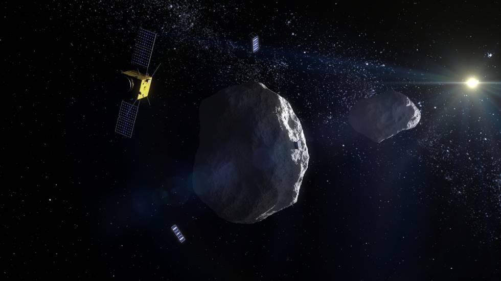 El proyecto AIM pretendía golpear una roca espacial para desviar su trayectoria.