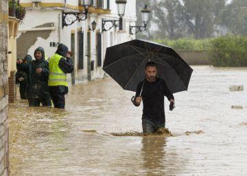 Inundaciones y fuertes lluvias en Málaga
