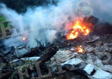 El accidente de avioneta en Toledo, en imágenes